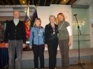 Najboljše veteranke ZVVS s predsednikom ZVVS Janezom Pajerjem